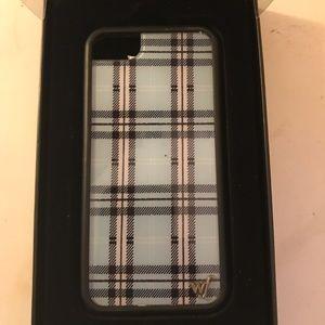 Wilflower Blue Plaid Case (iPhone 7/8)